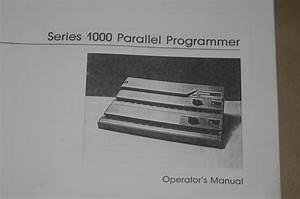 Data Io I  O 1000 Series Parallel Programmer Operating