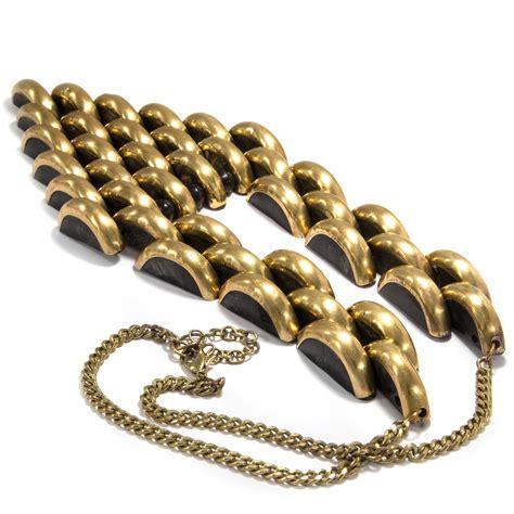 antique deco jewellery fashion necklace jacob kid um 1930 galalith brass ebay