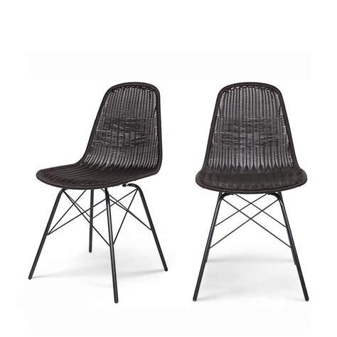chaise en rotin gris awesome chaises en rotin tressé pictures joshkrajcik us