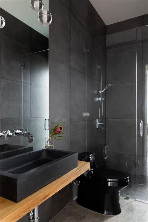 modern bathroom  black hgtv