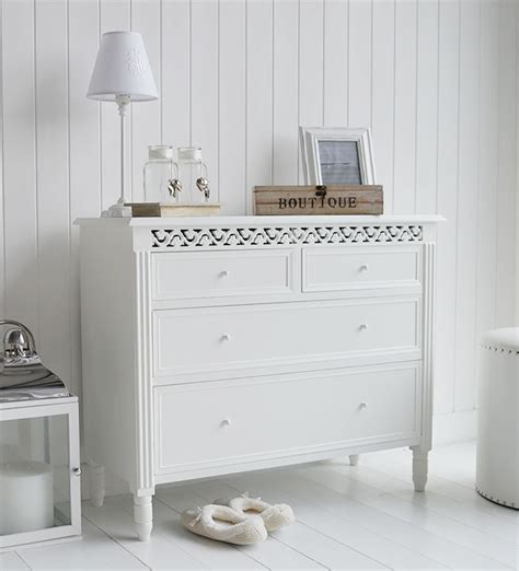 Bedroom Drawers White by New White Chest Of Drawers The White Lighthouse