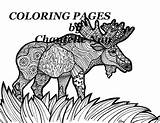 Moose Coloring Adult Pages Animals Printable Wildlife sketch template