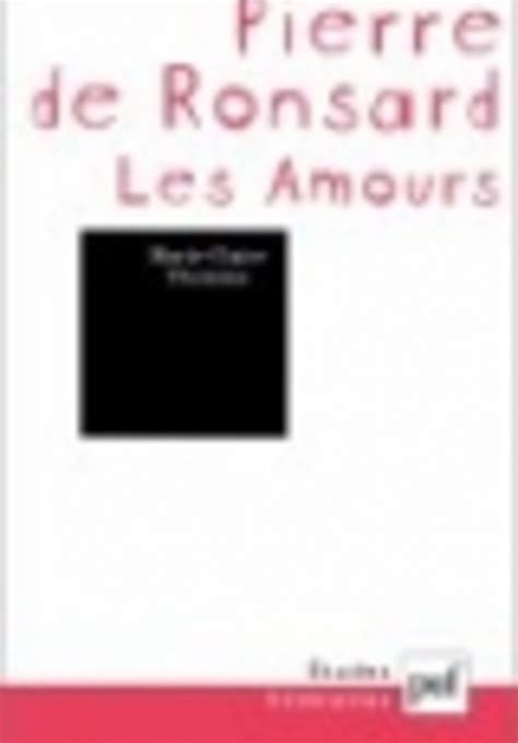 les amours ronsard analyses litteraires