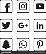 Facebook logo in black and white   Black White Social ...