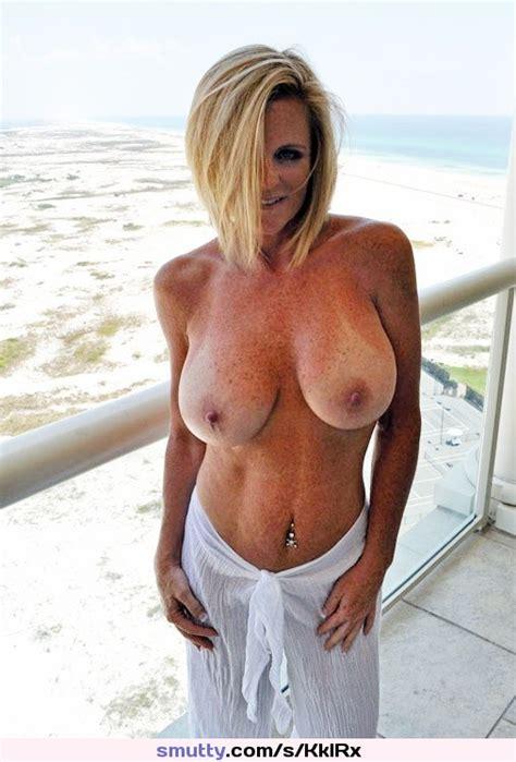 Freckles Milf Boobs Bigboobs Tits Beach Balcony