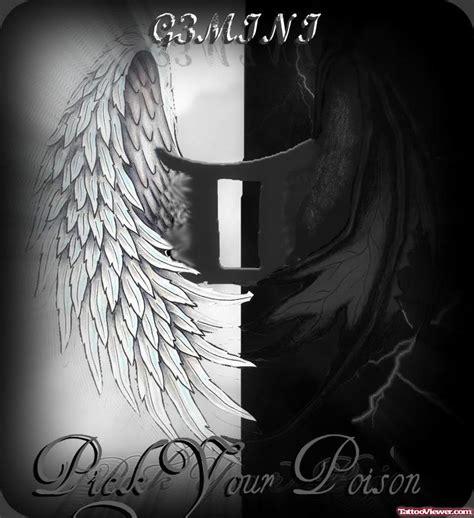 angel  devil winged gemini tattoo design tattoo