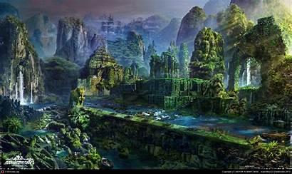 Fantasy Jungle Ruins Google Landscape Cities Places