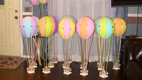 Baby Shower Hot Air Balloons Centerpieces My Baby Shower
