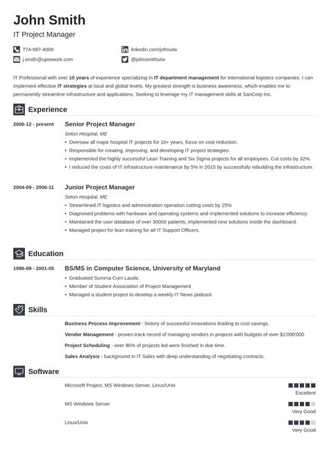 Typical Cv Template by 20 Cv Templates Create A Professional Cv In 5