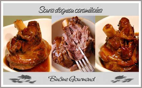 comment cuisiner les souris d agneau souris d 39 agneau caramélisées binôme gourmand
