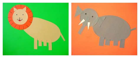 cute animals   paper shapes
