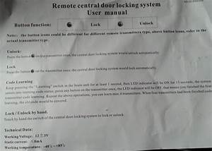 Fitting Remote Central Locking System