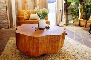 Möbel Stump : 50 couchtische aus baumstamm gestaltet ~ Pilothousefishingboats.com Haus und Dekorationen