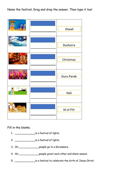 Religions And Festivals Of India Worksheet