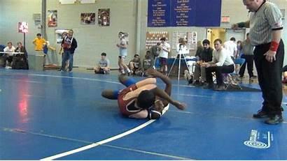 Female Male Wrestler Tough Wrestling Match