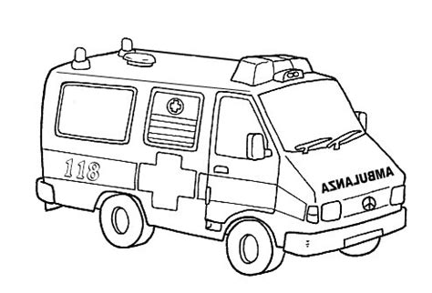 dibujos de ambulancias  colorear