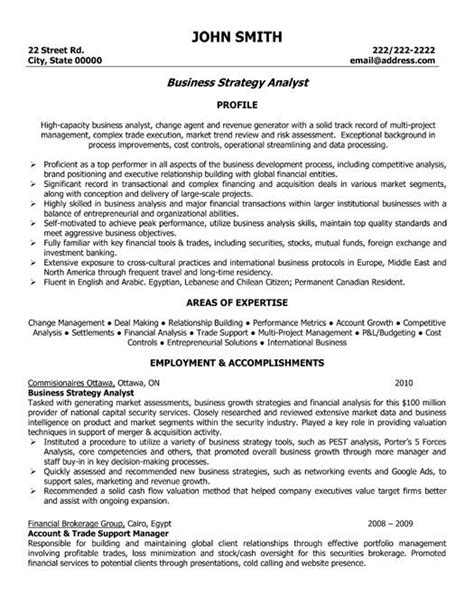 Business Analyst Resume Template by 17 Images About Best Business Analyst Resume Templates