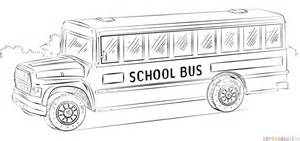 How to draw a school bus   Step by step Drawing tutorials  Bus Drawing
