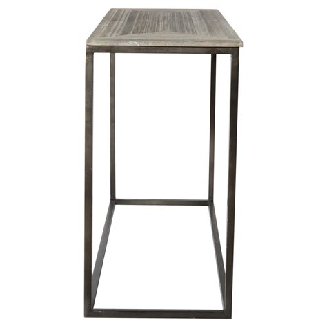 industrial metal console table elgar industrial lodge metal wood console table kathy