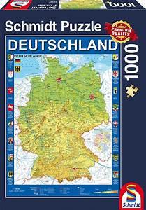 Puzzle Online Kaufen : deutschlandkarte 1000 teile schmidt spiele puzzle online kaufen ~ Watch28wear.com Haus und Dekorationen
