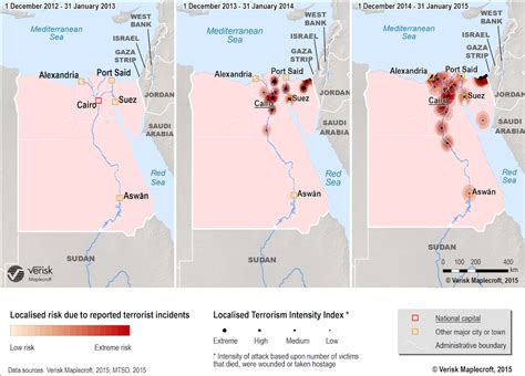 This map shows how terrorism is on the rise in Egypt ...