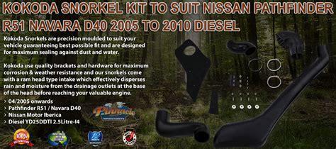 Kokoda Snorkel Kit to Suit Nissan Pathfinder R51 Navara
