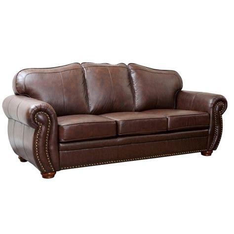 abbyson living leather sofa abbyson living pearla 3 piece leather sofa set in dark