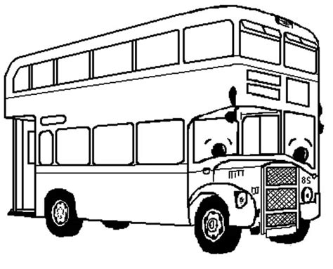 double decker bus coloring page coloring pages