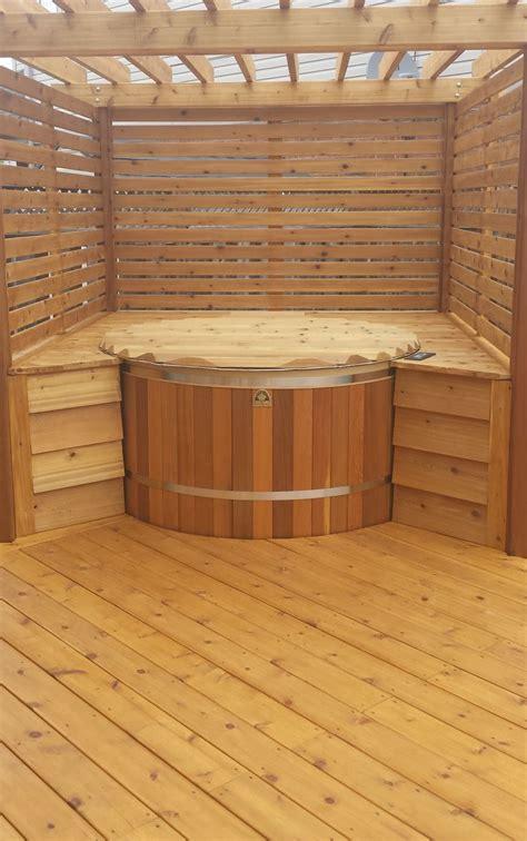deck tub 17 best images about cedar tub ideas on