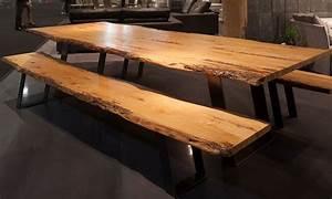 Table Bois Brut : first line mobilier ~ Teatrodelosmanantiales.com Idées de Décoration