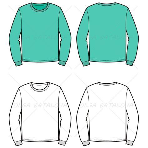 sweater template s sweater fashion flat template illustrator stuff