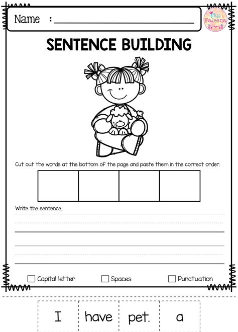Free Sentence Building Has 10 Pages Of Sentence Building Worksheets This Product Is Great For