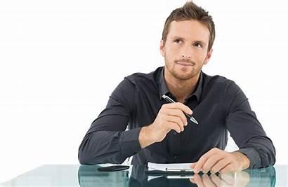Sole Proprietorship Thinking Businessman Company Person Office