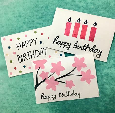 easy  minute diy birthday greeting cards holidappy