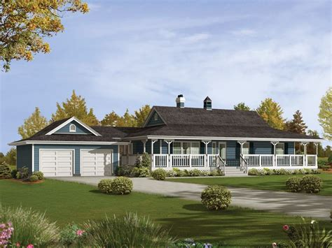 Ranch House Plans With Wrap Around Porch Caldean Country Ranch Home Country Ranch With Spacious