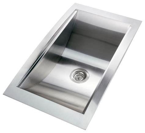 34 stainless steel kitchen sink gv 34 inch stainless steel handmade kitchen sink top mount