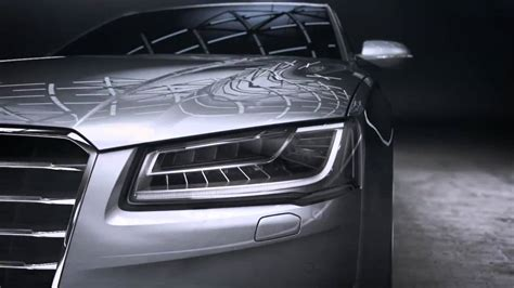 audi matrix headlights audi matrix led headlights in audi a8 youtube