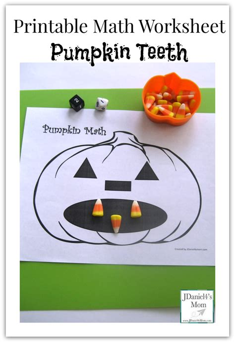 printable math worksheet pumpkin teeth