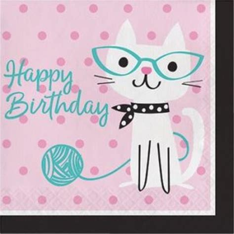 monster jam truck party supplies purrfect cat party large happy birthday napkins x 16