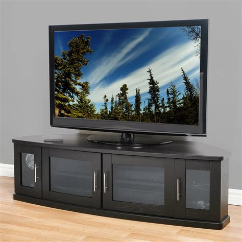 frosted glass tv cabinet modern black wooden tv stand with frosted glass doors of