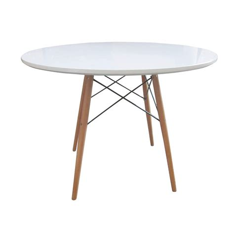 all wood dining table bentley home retro wooden white round dining table