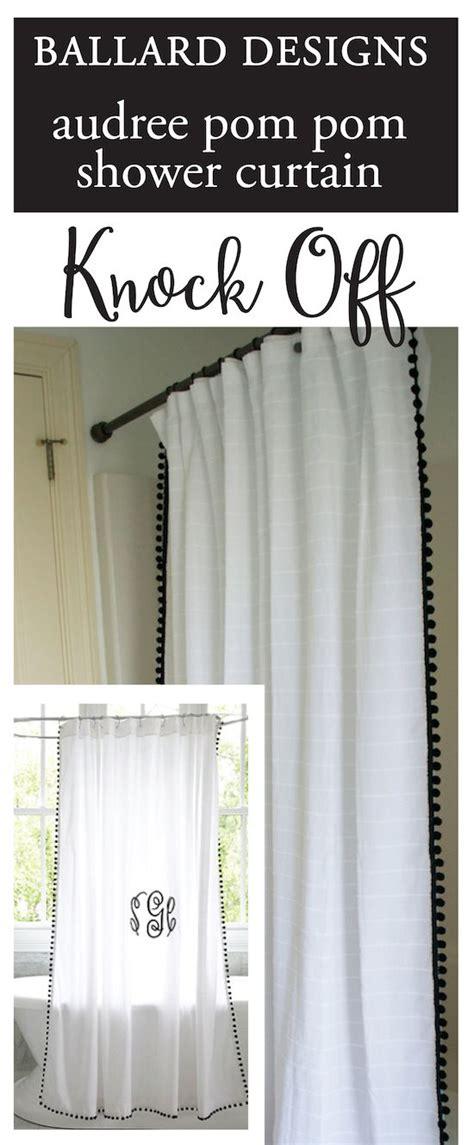 ballard designs shower curtain knock  hardware update