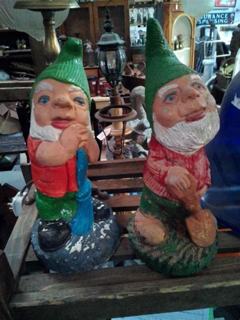 colourful cheeky garden gnomes