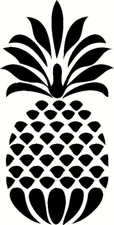 pineapple silhouette  kitchen vinyl decals stencils wall stencils