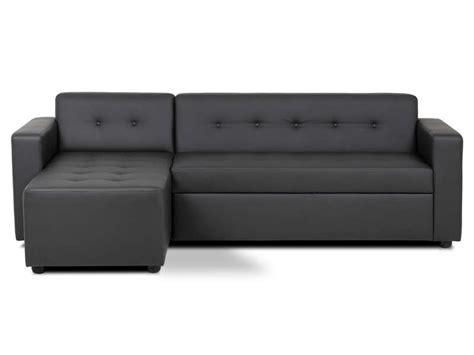 conforama rennes canap canapé d 39 angle convertible 4 places pedro coloris noir en