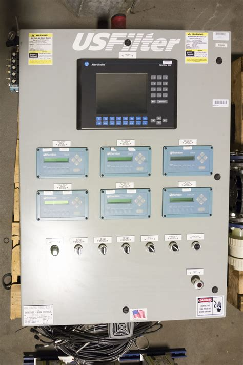 filter control panel plc  hmi high purity equipment