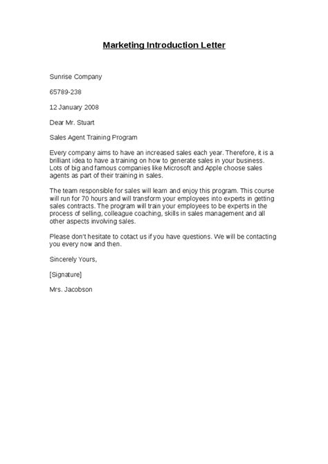 sales introduction letter business sales