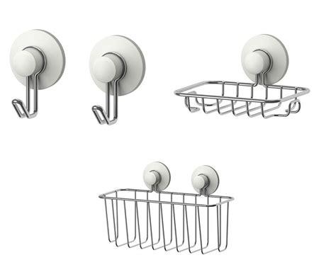 accessoires salle de bain a ventouse ikea immeln series ventouse salle de bains accessoires crochets porte savon paniers ebay