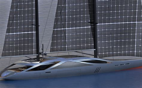 Yacht Juice by Aquila Solar Yacht Concept By Santa Uses Cigs Cells