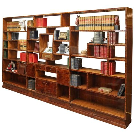 Art Deco Bookcase Room Divider At 1stdibs